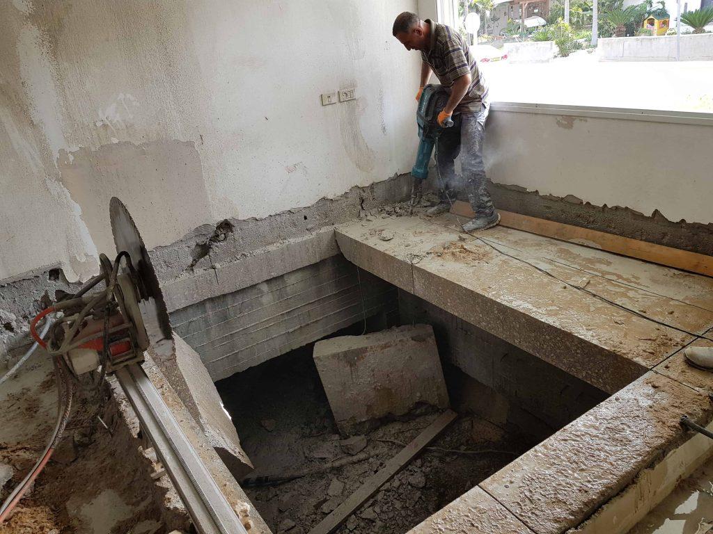 סוף ניסור רצפת בטון